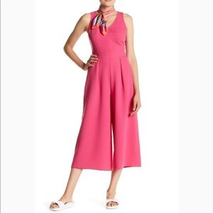 Hot Pink Wide Leg Jumpsuit